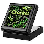 Crochet Green Keepsake Box