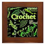 Crochet Green Framed Tile