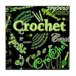Crochet Green Tile Coaster