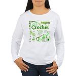Crochet Green Women's Long Sleeve T-Shirt