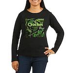 Crochet Green Women's Long Sleeve Dark T-Shirt