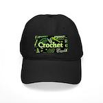 Crochet Green Black Cap