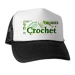 Crochet Green Trucker Hat