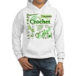 Crochet Green Hooded Sweatshirt