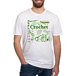 Crochet Green Fitted T-Shirt