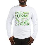 Crochet Green Long Sleeve T-Shirt