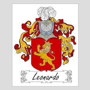 Leonardo Family Crest Small Poster