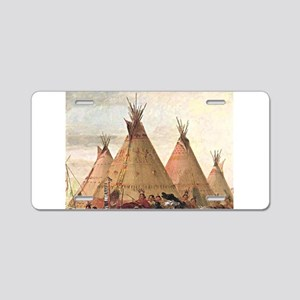 tepee home house Aluminum License Plate