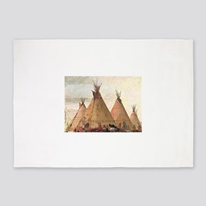 tepee home house 5'x7'Area Rug