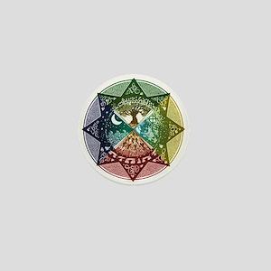 Elemental Mandala Mini Button