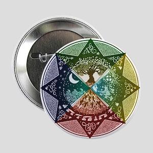 """Elemental Mandala 2.25"""" Button"""