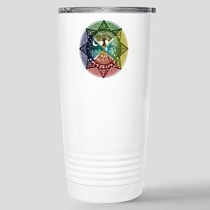 Elemental Mandala Stainless Steel Travel Mug