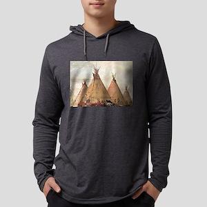 tepee home house Long Sleeve T-Shirt