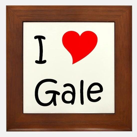 Cute I heart gale Framed Tile
