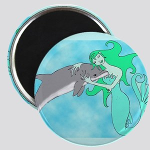 Mermaid & Dolphin Magnet