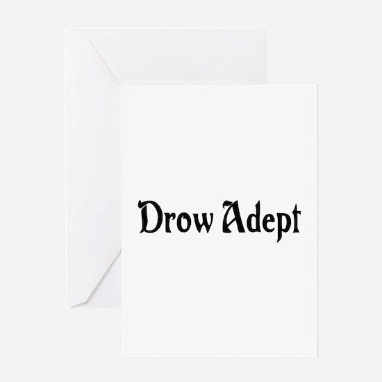 Drow Adept Greeting Card