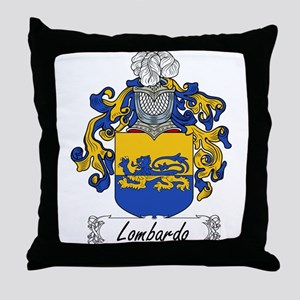 Lombardo Family Crest Throw Pillow