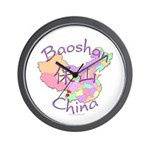 Baoshan China Map Wall Clock