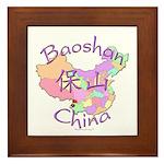 Baoshan China Map Framed Tile