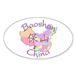 Baoshan China Map Oval Sticker (10 pk)