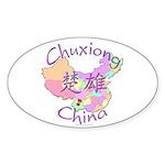 Chuxiong China Oval Sticker (10 pk)
