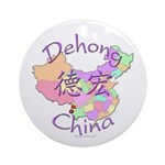 Dehong China Map Ornament (Round)