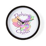 Dehong China Map Wall Clock