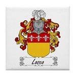 Losco Family Crest Tile Coaster