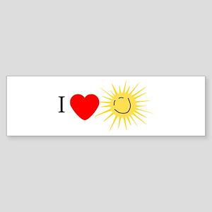 I Love Happy Sunshine Bumper Sticker