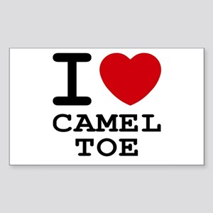I heart camel toe Rectangle Sticker