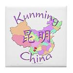 Kunming China Map Tile Coaster