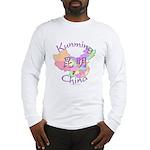 Kunming China Map Long Sleeve T-Shirt