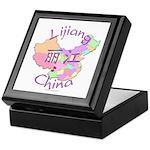 Lijiang China Map Keepsake Box