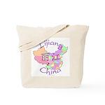 Lijiang China Map Tote Bag