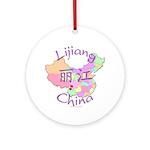 Lijiang China Map Ornament (Round)