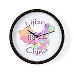 Lijiang China Map Wall Clock