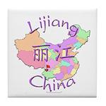 Lijiang China Map Tile Coaster