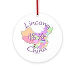 Lincang China Map Ornament (Round)