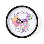 Lincang China Map Wall Clock