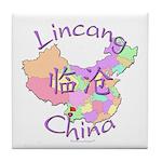Lincang China Map Tile Coaster