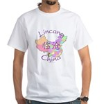 Lincang China Map White T-Shirt