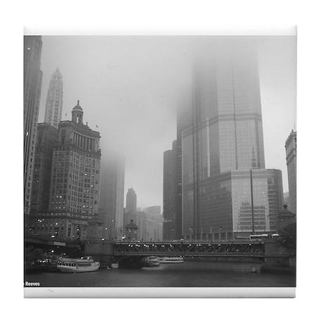Chicago Rain Tile Coaster