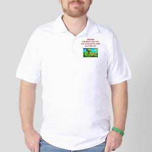funny sewing joke Golf Shirt