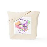 Mile China Map Tote Bag