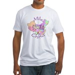 Mile China Map Fitted T-Shirt