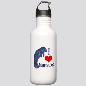 Cute Manatee Stainless Water Bottle 1.0L