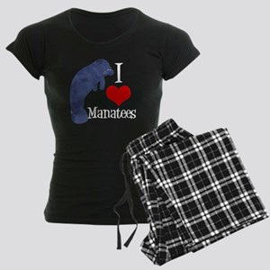 Cute Manatee Women's Dark Pajamas