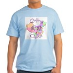Qujing China Map Light T-Shirt