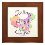 Qujing China Map Framed Tile