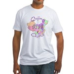 Qujing China Map Fitted T-Shirt